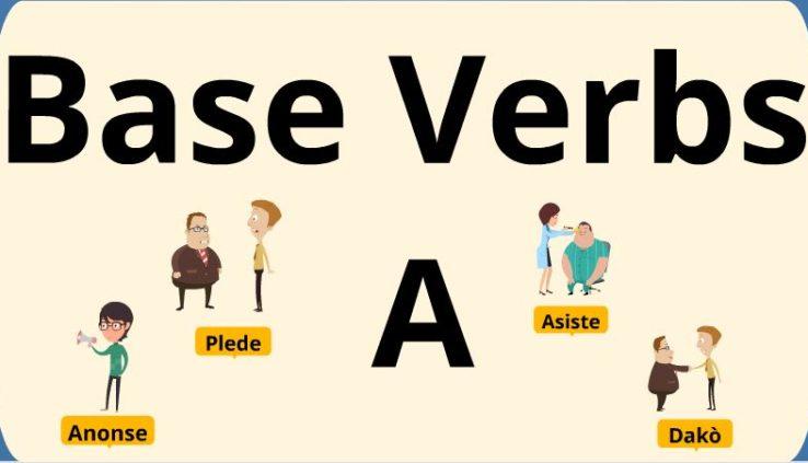 base verbs in Haitian Creole